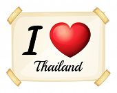 Illustration of I love Thailand