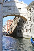 Famous Bridge Of Sighs In Venice In Italy And Ancient Prisons