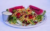 Bean Salad & Melon