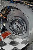 foto of dragster  - Funny car dragster transmission detail - JPG