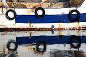 Three Pneumatic Wheels On Fishing To Protect The Hull
