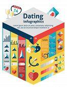 Dating Infographics Set