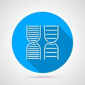 Round vector icon for DNA