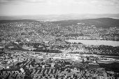 Aerial View Of Zurich City And Lake On Uetliberg