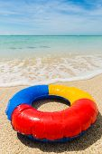 Swim Ring At The Beach