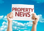 Property News card with sky background