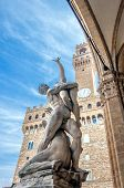 Rape Of The Sabines Sculpture By Giambologna In Florence, Italy