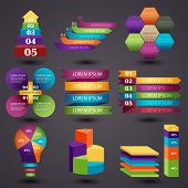 Vector illustration of a set of elements of graphic information