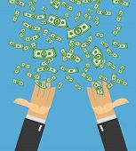 foto of money  - Hand catch money - JPG