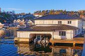 Elegant White Wooden Garage For Luxury Boats