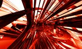 Abstract futuristic background with red 3D tech elements