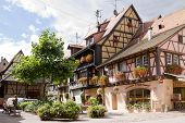 Eguisheim Village In France In A Sunny Day