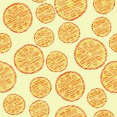 Seamless orange texture, endless fruit background. Abstract citrus ornament.
