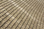 picture of shingles  - Wooden shingles on the roof of a mountain lodge - JPG