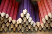 Various Colored Pencils In Row As A Creativity Selective Focus