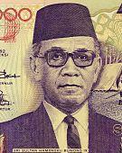 Indonesia - Circa 1992: Sri Sultan Hamengku Buwono Ix