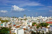 foto of suburban city  - Vietnam nha trang city panorama - JPG