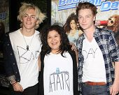 LOS ANGELES - FEB 10:  Ross Lynch, Raini Rodriguez, Calum Worthy at the