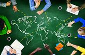 stock photo of meeting  - World Global Ecology International Meeting Unity Learning Concept - JPG