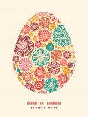Vector abstract decorative circles Easter egg sillhouette frame card template