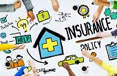 stock photo of policy  - Diversity Casual People Insurance Policy Meeting Concept - JPG