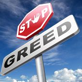 greed stop being greedy fair trade and not short term economy but sustainable agriculture and energy solidarity and responsibility