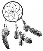 foto of dream-catcher  - hand drawn indian dream catcher  - JPG