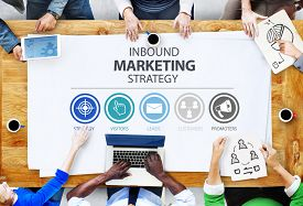 stock photo of marketing plan  - Inbound Marketing Strategy Advertisement Commercial Branding Concept - JPG