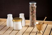 picture of pepper  - Concept of salt and pepper accessories - JPG