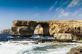 foto of maltese  - Panoramic view of Azure Window - JPG