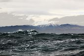 picture of sakhalin  - a storm at sea near the island of Sakhalin - JPG
