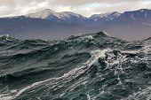 foto of sakhalin  - a storm at sea near the island of Sakhalin - JPG