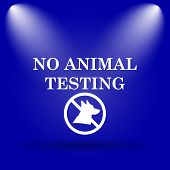 stock photo of blue animal  - No animal testing icon - JPG