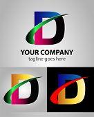stock photo of letter d  - Letter D logo icon design template elements - JPG