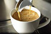 foto of machine  - Coffee machine making coffee in a coffee shop - JPG