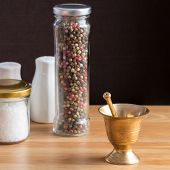 stock photo of pepper  - Concept of salt and pepper accessories - JPG