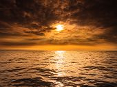 pic of horizon  - Beautiful seascape evening sea sunset horizon and sky - JPG