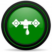 pic of hydraulics  - water green icon hydraulics sign