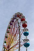 picture of ferris-wheel  - Ferris wheel on the fairground of the Spring Festival and the Octoberfest in Munich - JPG