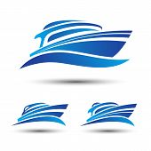 image of boat  - Yacht motor speed boat isolated symbol vector - JPG