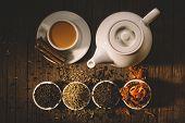 stock photo of darjeeling  - Masala tea with spices - JPG