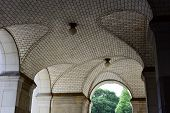 image of municipal  - Guastavino tile ceiling by the subway entrance under the Municipal Building in New York City - JPG
