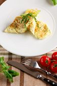 stock photo of scrambled eggs  - Close - JPG
