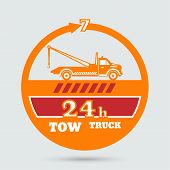 image of towing  - Tow truck emblem - JPG