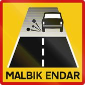 picture of tar  - Supplementary road sign with the words in Icelandic - JPG