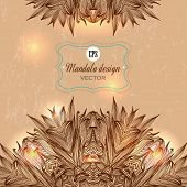 picture of kaleidoscope  - Set of Ornament round mandalas - JPG