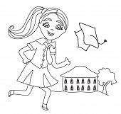 picture of academia  - happy little girl and Bay Bay School  - JPG