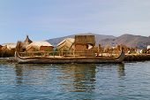 Reed Boat From A Floating Uros Island