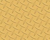 Diamond Plate Gold Long Tapered poster