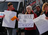 Protesting Teachers & Student